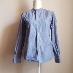 Uniqlo Blue Button Down Shirt Top Size XS